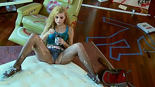 Horny in pantyhose
