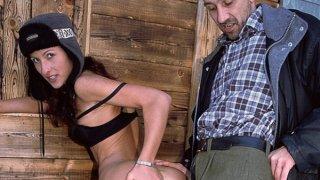 Gina has outdoor sex