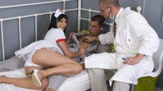 Taking her temperature