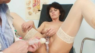 Elder wife weird speculum vagina examination
