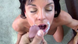 Hot bodied brunette with perky tits wants to fuck on camera for a living.