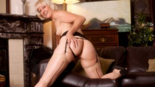 Mature mom shares first naughty video