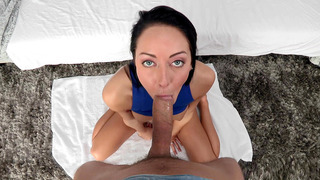 Sabrina Banks sucked that cock like a champ in POV