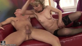 Man and wife double dildo