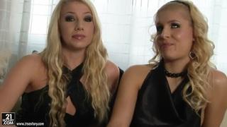 Blonde Brandy Smile and Danielle Maye posing