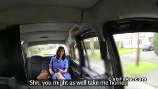 Chubby British nurse banged in fake taxi