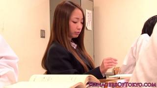 Japanese bondage teeny Anju Sana is old guys slave