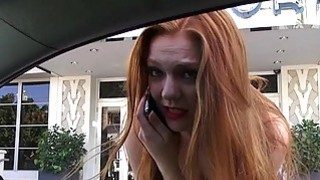 Redhead Farrah Flower facialed in public