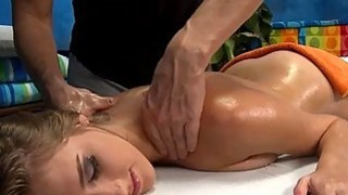 Pussy pounding for sexy chick after a massage