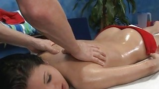 Getting a fleshly massage turns on babes needs