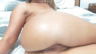 Hot blonde webcam masturbation