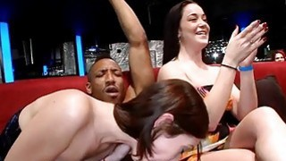 Chicks are having a time engulfing hunks shafts