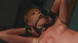 Muscular master punishing and fucking slavegirl