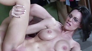 Brandi Edwards takes some cum from a stranger