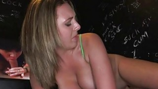 Pretty darling tames a tough pecker with sucking