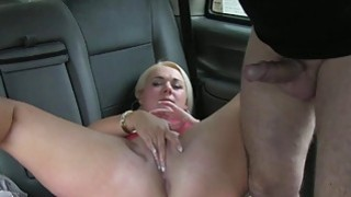 Chubby blond babe fucked by horny driver