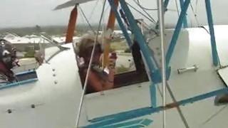 Naked Girls doing Biplane Stunts!