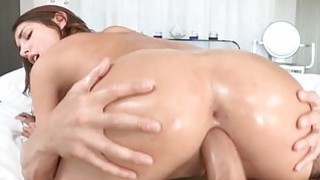 Having studs huge cock in her throat thrills chick