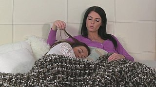Intimate Lovers Spend Day And Night Together On Bed