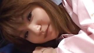 Asian schoolgirl sucks dick and gets pussy banged hard