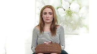 Eva deepthroats casting agents nice cock and rides it good