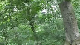 Amateur blonde fucked in the forest