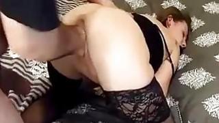 Brutally fisting girlfriend in bondage
