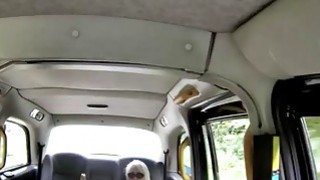 Big boobs amateur blonde passenger railed in the cab