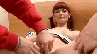 Blameless babe is pleasuring two hungry boys
