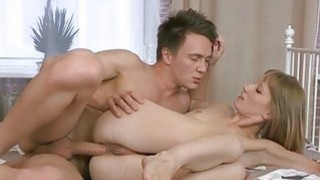 Lovely hottie gets her anal lanced by naughty jock