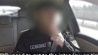 Calm fake cop bangs hot brunette babe