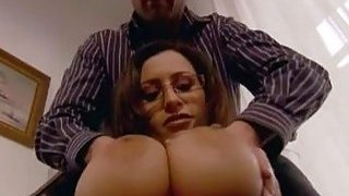 Big breasted secretary bangs with her boss on office desk xrxx