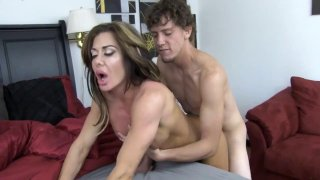 Big booty mom fucks with her young hung fitness instructor