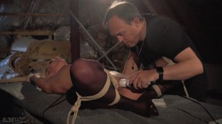 Hot slave gets punished in Masters cave