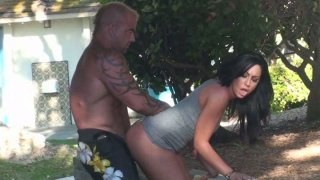 Tiffany Brookes  in blow minded hot outdoor orgy.