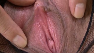 Hot suit on Hatsuka Kobayashi has a perfect hole for an ardent fuck