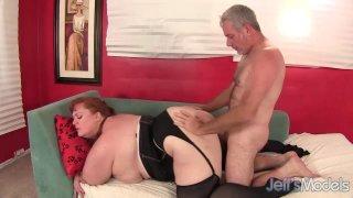 Sexy Redhead BBW Julie Ann More Takes a Hardcore Pounding