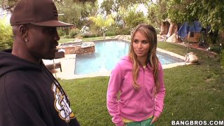Slutty model Aleska Diamond seduces two black dudes