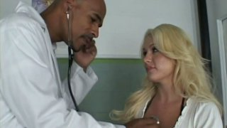 Horny doctor examines Megan Monroe and goes beyond the borders