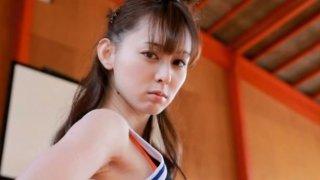 Amazing basketball player Rina Akiyama shows her smooth ass