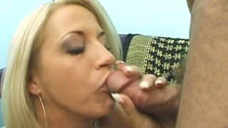 Bosom milfy blonde Kori Taylor gives eager blowjob