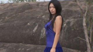 Cute oriental chick Yukie Kawamura photo session