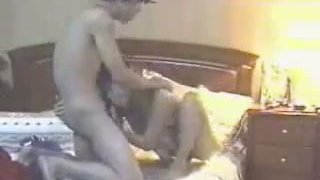 Amateur Asian couple capturing hot homeade video