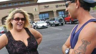 Mature BBW Jena sucks on a kinky dick in hot sex video