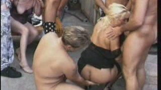 Old sluts Sibylle Malenka & Wilhelmina Lukin please the dockers
