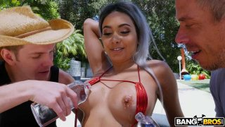 Squirting From Double Penetration With Anal