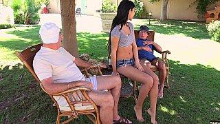 Two grandpas share a teen